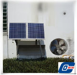 12V DCの換気扇が付いている25watt太陽空気調節