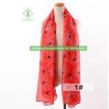 100%のビスコース方法女性のヨーロッパのスカーフのくもによって印刷されるイスラム教のショール