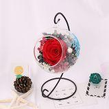 Frais de gros de conserves de fleurs à bille de verre pour la décoration de Shope