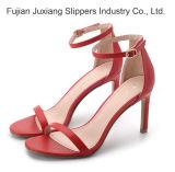 Les femmes de haut niveau du talon bloc Chunky sandales vestimentaire de la pompe