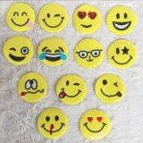 Ferro poco costoso di disegno di Emoji sul contrassegno tessuto abitudine