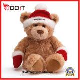Regalo de Navidad de seguridad Santa Decoración suave Peluche oso de peluche juguete