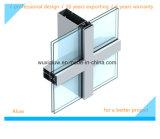 Mur rideau en verre visible