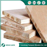 Placa Núcleo choupo Folha de madeira laminada Blockboard melamina