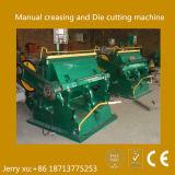 Caliente-Vender la máquina que arruga y que corta con tintas plana manual
