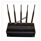 静止した5つのバンドシグナルのアイソレーターか妨害機またはブロッカー; GSM 50メートルの、3G、4GのGPSのシグナルの妨害機、Adustable 5のアンテナ携帯電話のシグナルのアイソレーター