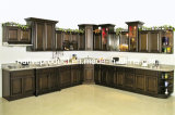 食器棚の純木の台所家具の食器棚(汚れるシラカバ)