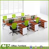 Scrittorio diritto della stazione di lavoro dell'ufficio delle 6 sedi con il blocco per grafici di Alumium