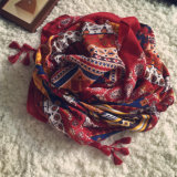 Écharpe surdimensionnée de Pashmina Turquie de coton de rétro type de mode