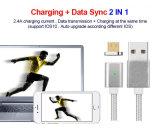 Magnetische 2 in 1 Magnet-Kabel für iPhone und Android