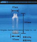 Leche exquisita del diseño y botella de cristal del jugo