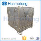 Bonnes cages se pliantes de fil de mémoire d'entrepôt de vente