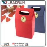 Sac cosmétique enduit promotionnel d'emballage de bijou de transporteur de papier d'art de main de cadeau d'achats de papier d'impression de Brown Papier d'emballage avec la corde en nylon de coton (d44)