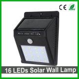 Хорошее качество 16светодиоды светодиод солнечной настенный светильник для использования вне помещений/сад