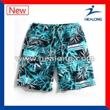 Shorts personalizados da praia da impressão do Sublimation do Sportswear de Healong venda superior