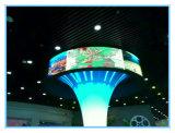 360 graus pode transmitir vídeo P5 tela LED especial para interior