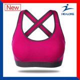 Qualquer tamanho Pink Color Sports Yoga Gym Tops Bras for Womenss