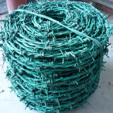 Сдвоенная линия колючая проволока PVC Coated