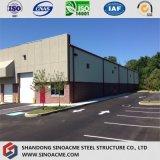 Edificio profesional de la estructura de acero para el garage