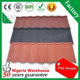 Tuile de toit enduite de vente de l'Afrique de construction de matériau de pierre chaude de feuille