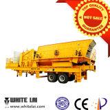 Lagarta de mineração britador de impacto Móvel Britagem para concreto/Brick/cimento/ Sandstone/Construção lixo (30-200 tph)