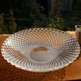 De gevormde Plaat van het Fruit van de Plaat van het Diner van het Glas van de Plaat van het Glas voor Vaatwerk