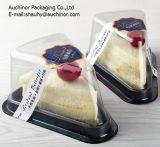 Boîte à gâteau en triangle en plastique recyclable
