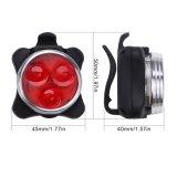 Het waterdichte van de Navulbare LEIDENE van Lehtd USB van de Fiets van de Toebehoren van de Fiets Mountai Plastic Voor Lichte Licht Staart van de Fiets