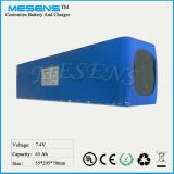 Li-Ion18650 63ah 7.4V Batterie-Satz