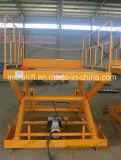 Heavy duty station de relevage de la cargaison de levage avec la conception de type ciseaux