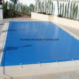 De anti-uv Stof van de Dekking van het Geteerde zeildoek van het Zwembad pvc Met een laag bedekte
