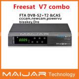 Nouveau openbox le récepteur satellite Freesat V7 Combo DVB-S2+C+T2 prennent en charge Powervu Bisskey Newcam Mgcam Cccam le partage réseau.