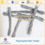 Fácil dispersión Twisted fibra PP Paquete de 54 mm.