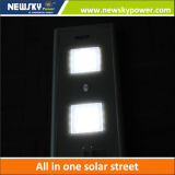 60W LED integrado Luz solar de la calle con el panel solar de la batería