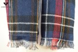 Il doppio ha parteggiato sciarpa molle surdimensionata tessuta della coperta del Tartan del plaid dell'involucro