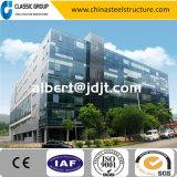 Instalación rápida atractivo edificio de oficinas de prefabricados de estructura de acero