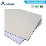 El panel compuesto 4m m de aluminio resistente al fuego para el revestimiento externo de la pared (capa de 4m m PVDF)
