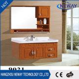 高品質の壁のミラーとの木製の浴室の虚栄心