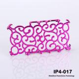 Горячие! ! ! Cool Суда Цветочный дизайн Electroplating Жесткий пластиковый защитный чехол для iPhone4 (IP-4-017)
