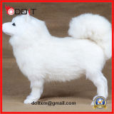 Blanco peluche relleno perro de juguete perro de peluche
