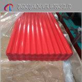 Revestido de color azul PPGI PPGL Hoja de acero corrugado para tejados