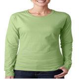 광저우 공장 승진 여자는 면 t-셔츠를 빗질했다