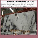 曇った灰色の大理石の自然なタイル張りの床のタイル