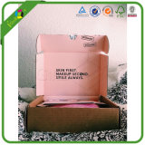 Caja de cartón de envío de empaquetado del anuncio publicitario acanalado del cartón del envío del regalo de encargo para la joyería/la ropa/ropa/zapatos/cosmético/perfume