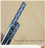 Stainless Steel를 위한 HRC50 Carbide Long Cutting Flute End Mills
