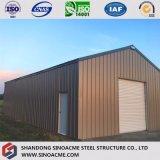 Magazzino d'acciaio chiaro prefabbricato della costruzione per il mini granaio