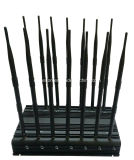 Un'emittente di disturbo da tavolino delle 14 antenne per l'emittente di disturbo 315/433/868MHz di telecomando dell'emittente di disturbo rf di frequenza ultraelevata di VHF dell'emittente di disturbo di GPS WiFi Lojack dell'emittente di disturbo del telefono mobile 2g 3G 4G
