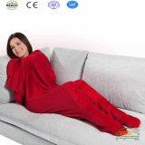 Coral флис диван одеяло ТВ одеяло, отделения офсетного полотна с рукава