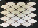 Mattonelle di mosaico di pietra di marmo gialle del diamante