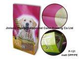 Saco resistente impresso costume do alimento do filhote de cachorro com reforço lateral
